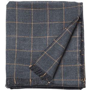 Gray Checkered Throw Blanket